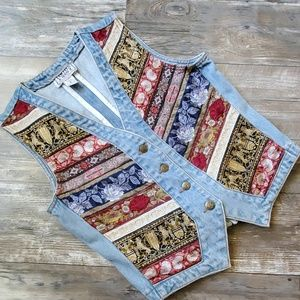 Vintage Limited Jean's vest size medium